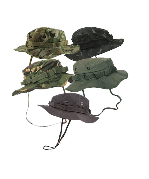 Boonie hat- BTP Black  headwear Kombat UK - The Back Alley Army Store