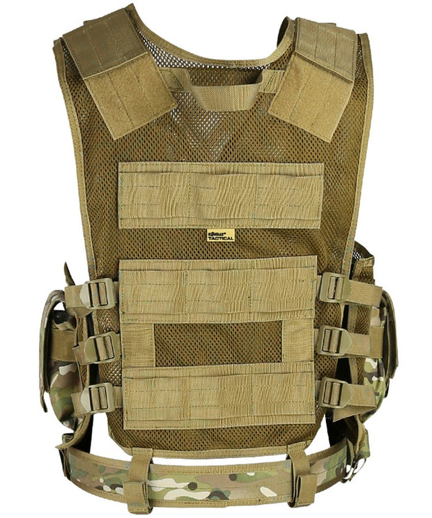 Cross Draw Tactical Vest-BTP  Airsoft Kombat UK - The Back Alley Army Store