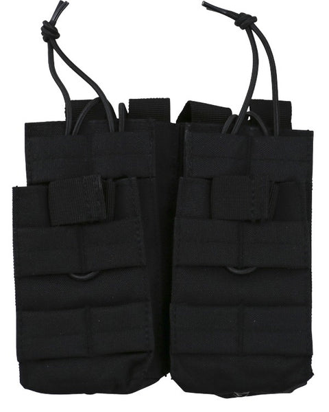 Double duo mag pouch BLACK Airsoft Kombat UK - The Back Alley Army Store