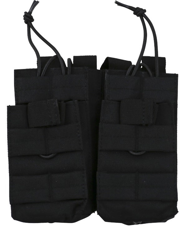 kombat tactical double duo mag pouch black