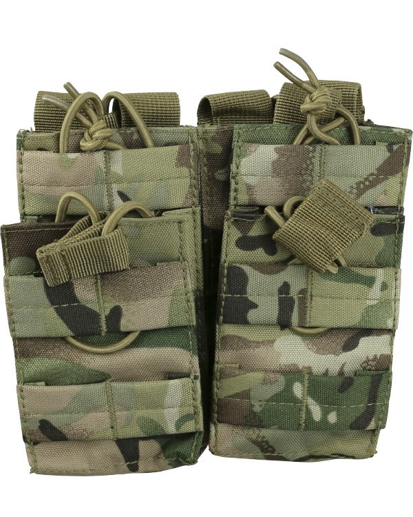 kombat tactical double duo mag pouch btp camo british camo