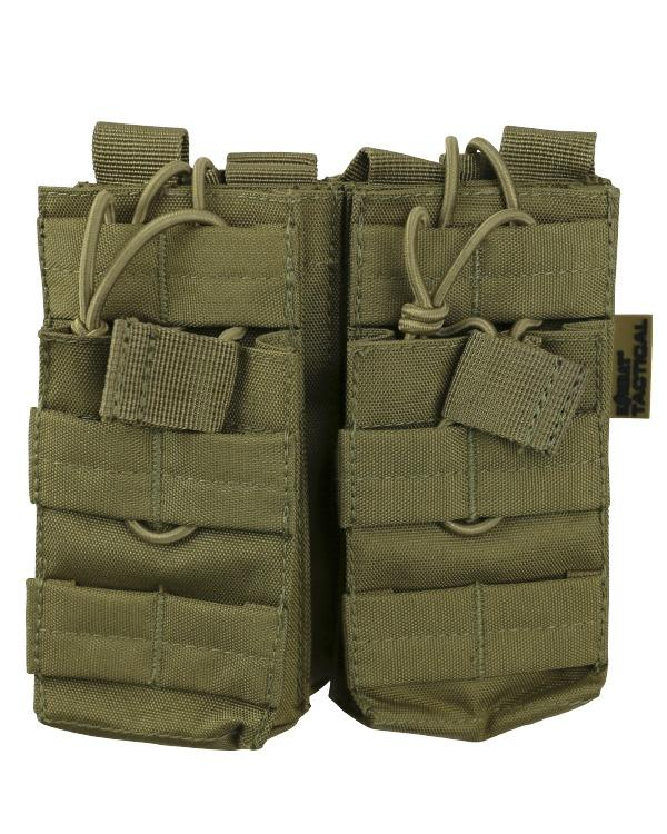 kombat tactical double magazine pouch coyote brown desert tan
