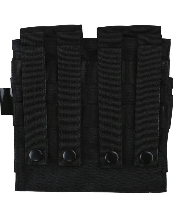 Double ORIGINAL style mag pouch-Black rear molle straps