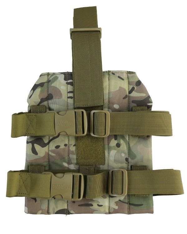 molle drop leg platform for attaching magazine pouches
