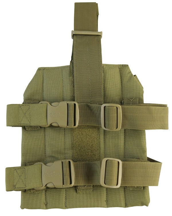molle drop leg platform for attaching gun magazine holsters