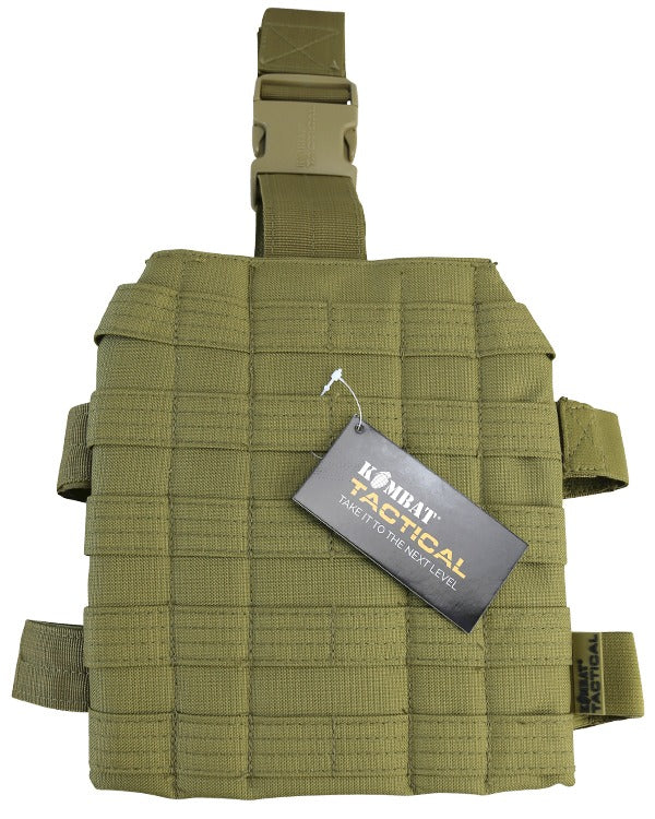 molle drop leg platform for attaching holster gun magazines