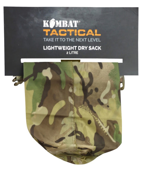 Lightweight dry sack 6 SIZES 2 LITRE Equipment Kombat UK - The Back Alley Army Store