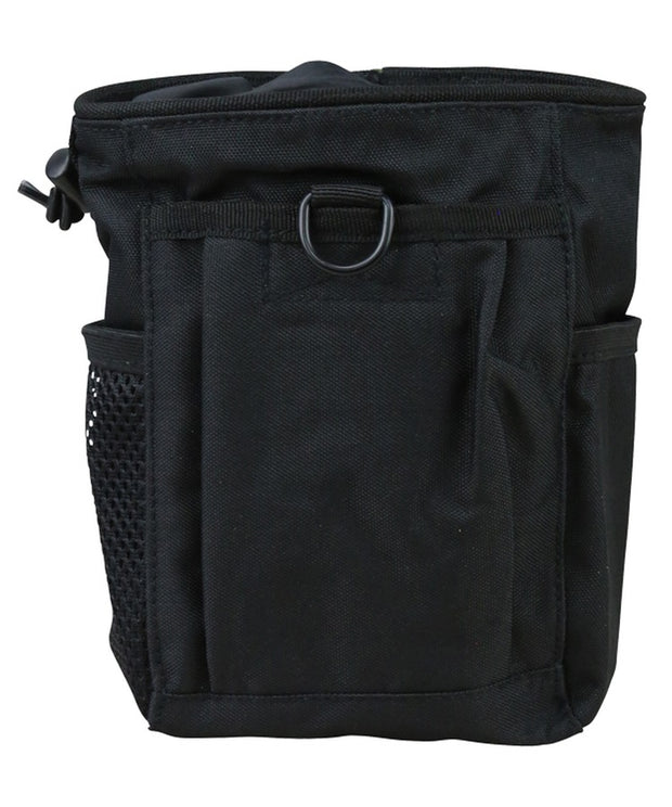 Dump pouch-Large BLACK Airsoft Kombat Tactical - The Back Alley Army Store