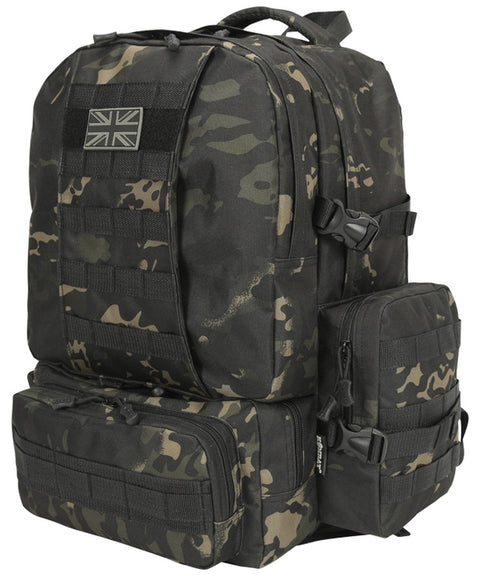 Expedition pack-50 litre MT BLACK Bag Kombat UK - The Back Alley Army Store