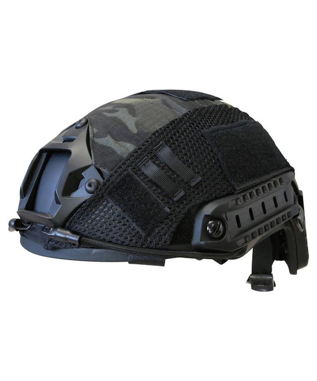 kombat tactical mt black fast helmet cover black camo