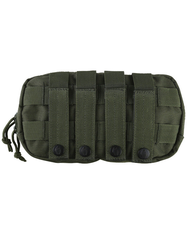Fast pouch-olive green. velcro  patch and magazine pouch rear molle straps