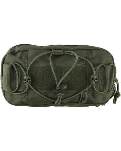 Fast pouch-olive green. velcro  patch and magazine pouch