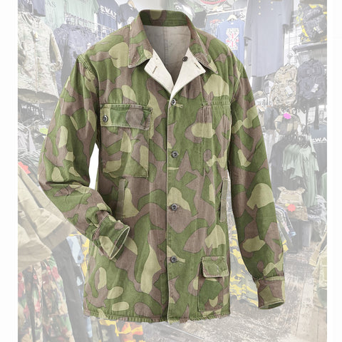 Finnish M-62 camo jacket  Clothing Sourced by Back Alley - The Back Alley Army Store