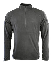 black thermal long sleeved op with zipped neck