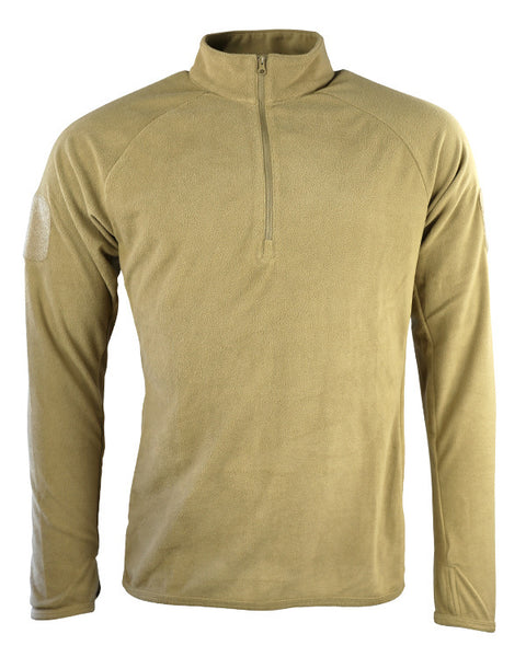 Alpha mid-layer fleece-Coyote  Clothing Kombat UK - The Back Alley Army Store