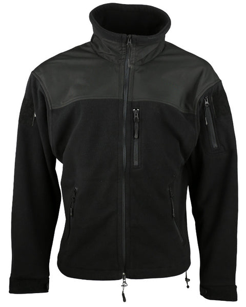 Defender tactical fleece-Black  Clothing Kombat UK - The Back Alley Army Store