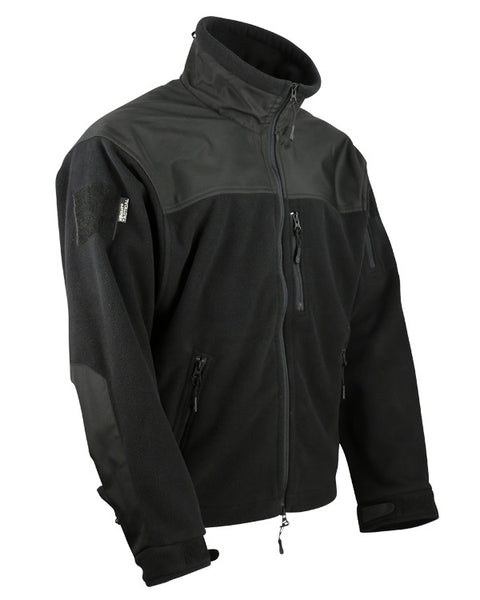 Defender tactical fleece-Black S / Black Clothing Kombat UK - The Back Alley Army Store