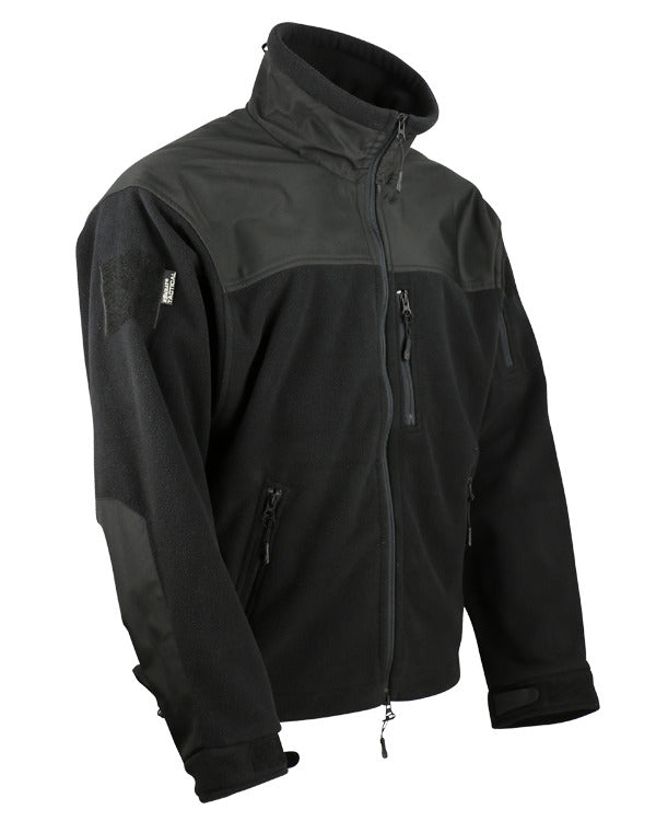 Defender tactical fleece-Black. water resistant shoulders.