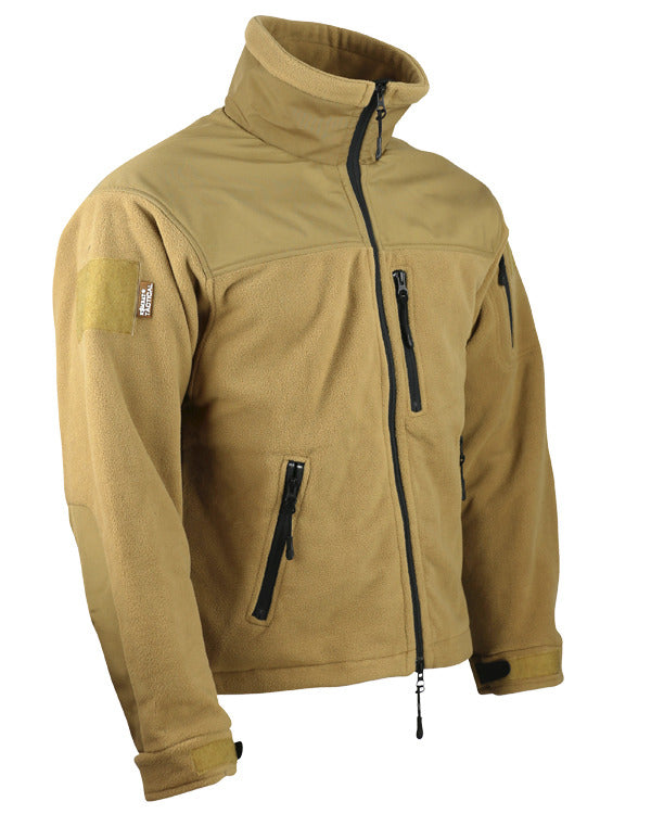 Defender tactical fleece-coyote brown. water resistant shoulders.