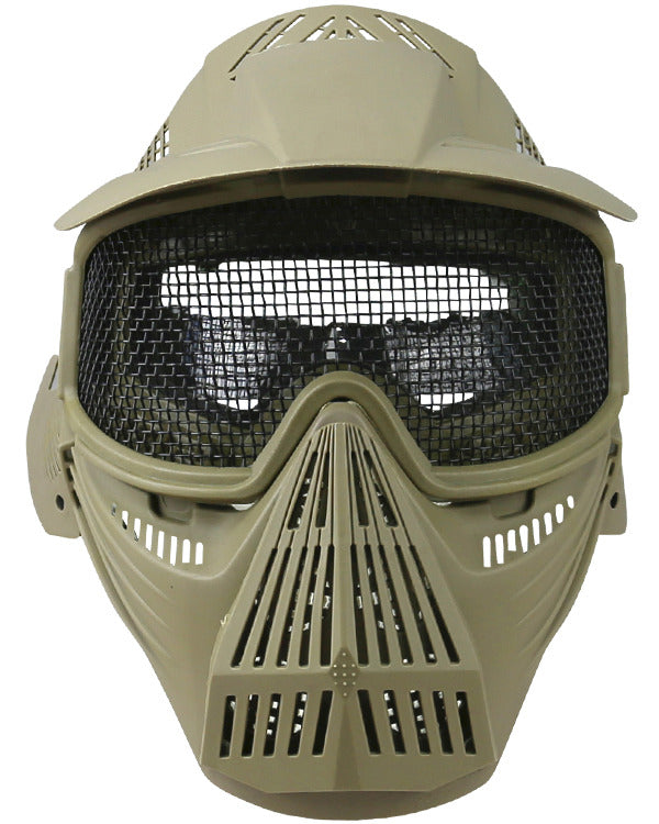 Full face mesh mask-coyote brown airsoft eye protection