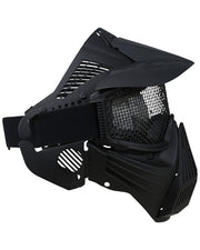 Full face mesh mask-Black airsoft eye protection