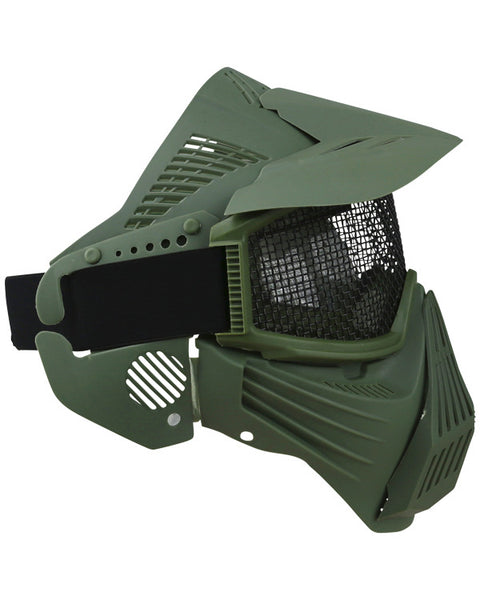 Full face mesh mask-Olive  Airsoft Kombat UK - The Back Alley Army Store