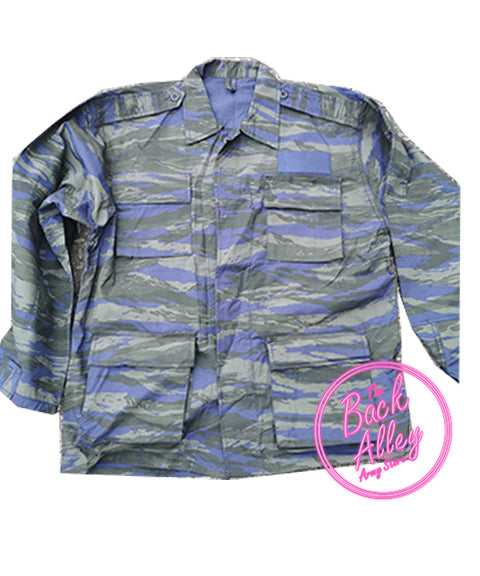 Greek Airforce Tiger Stripe jacket  Clothing Sourced by Back Alley - The Back Alley Army Store