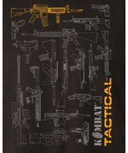 Tactical gun blueprint t-shirt