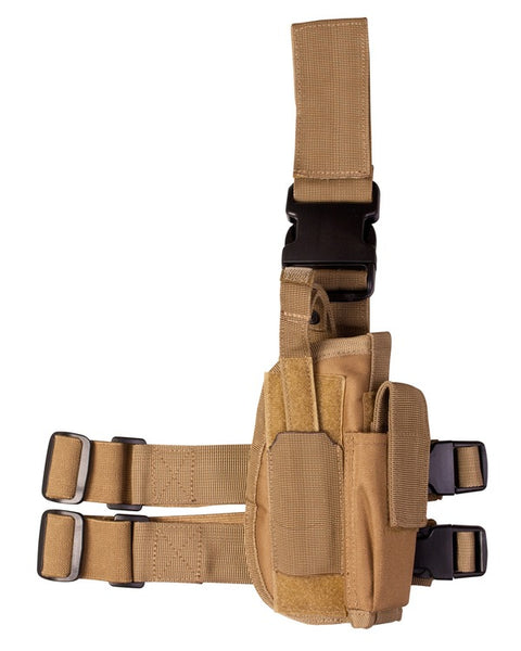 Tactical leg holster-Coyote  Airsoft Kombat UK - The Back Alley Army Store