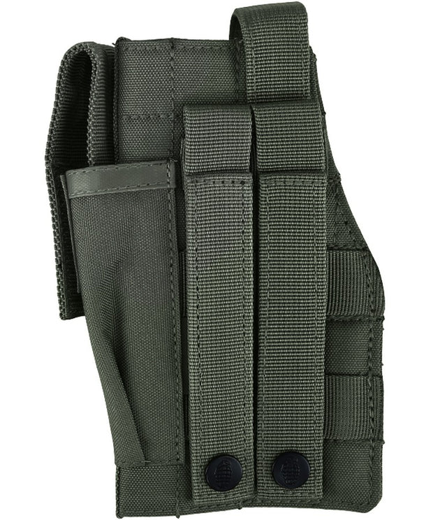 Molle gun holster w/mag pouch-Olive green