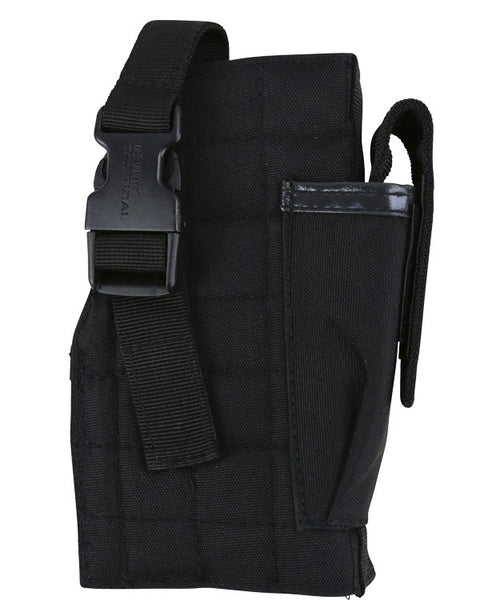 Molle gun holster w/mag pouch BLACK Airsoft Kombat UK - The Back Alley Army Store