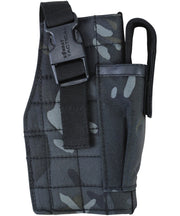 Molle gun holster w/mag pouch BTP BLACK Airsoft Kombat UK - The Back Alley Army Store