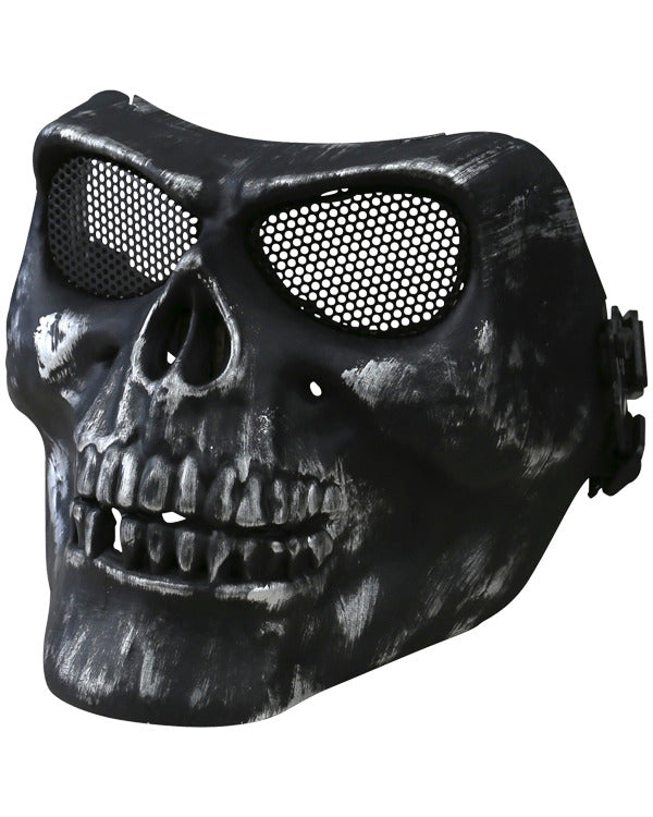 Half face skull mask. Airsoft skull protective face mask