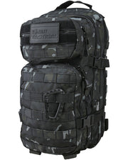 Hex-stop small assault pack 28 litre-BTP Black ripstop tactical backpack black camo
