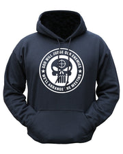 God will judge hoodie. punisher hoodie