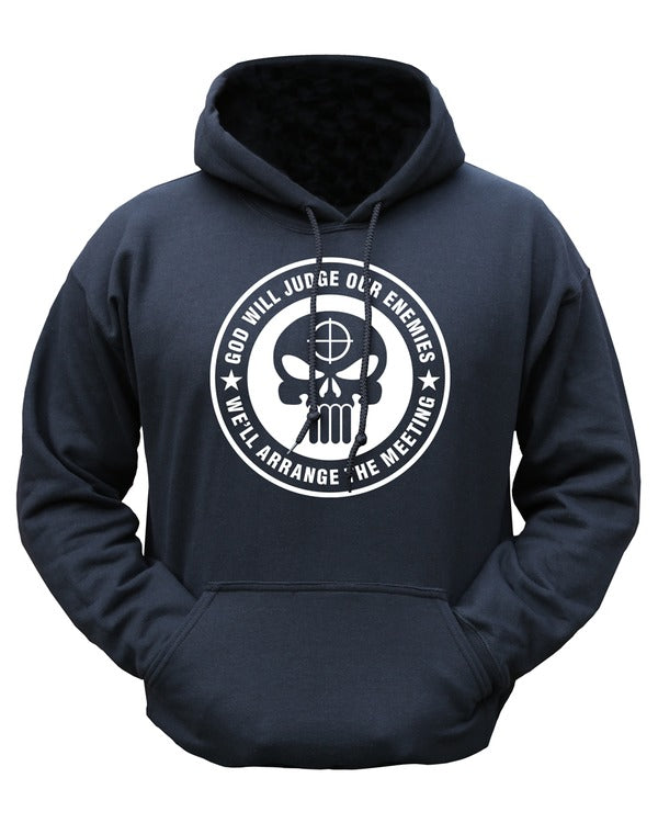 God will judge hoodie  Clothing Kombat UK - The Back Alley Army Store