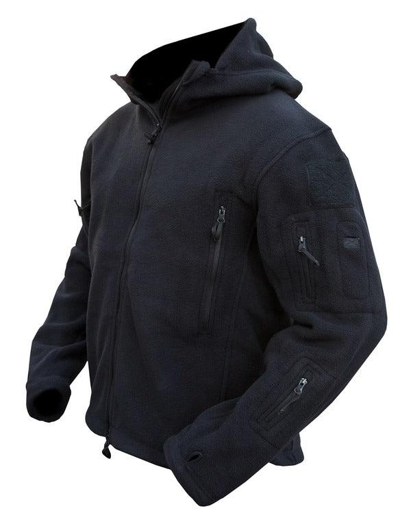 Recon tactical hoodie-Black S / Black Clothing Kombat UK - The Back Alley Army Store