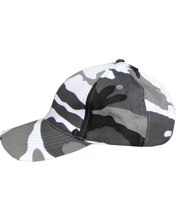 kids urban baseball cap black and white camo