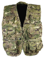kids camo fishing vest