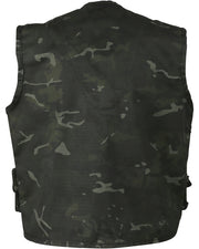 kids fishing vest black camo
