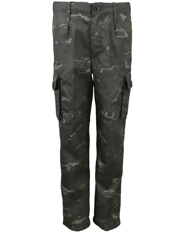 Kids British '95 style trouser-BTP Black  kids Kombat UK - The Back Alley Army Store