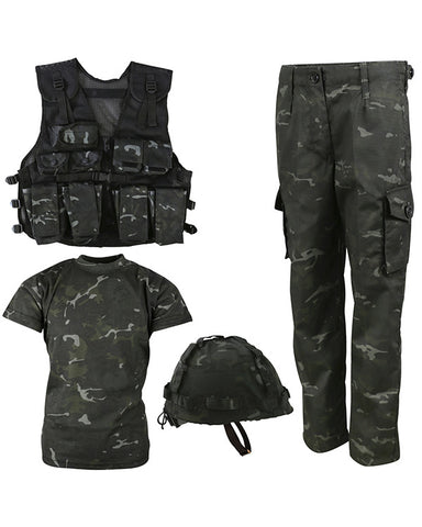 Kids #1 Army combo set-BTP Black