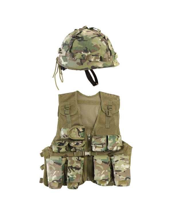 Kids assault vest and helmet set-BTP