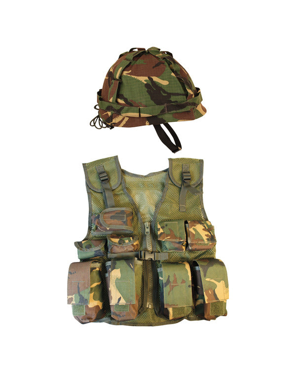 Kids assault vest and helmet set-DPM