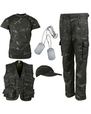 Kids camo explorer kit-BTP Black