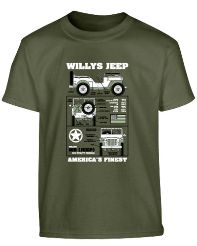 Kids Willys Jeep T-shirt