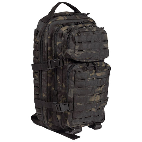 Lazer cut small assault pack-MT Black  Bag Mil-Tec - The Back Alley Army Store