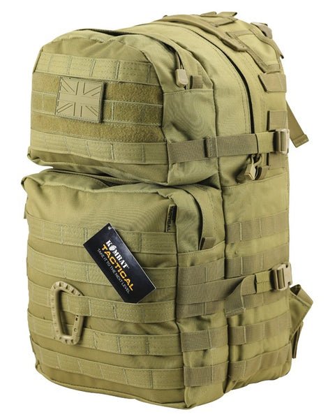 Medium Assault Pack 40ltr COYOTE Bag Kombat UK - The Back Alley Army Store
