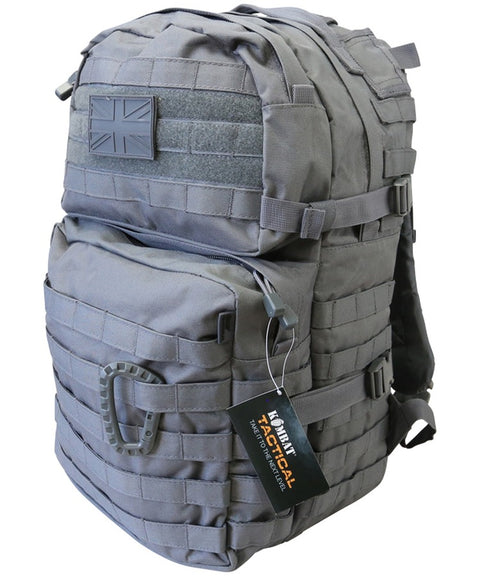 Medium Assault Pack 40ltr GUNMETAL Bag Kombat UK - The Back Alley Army Store