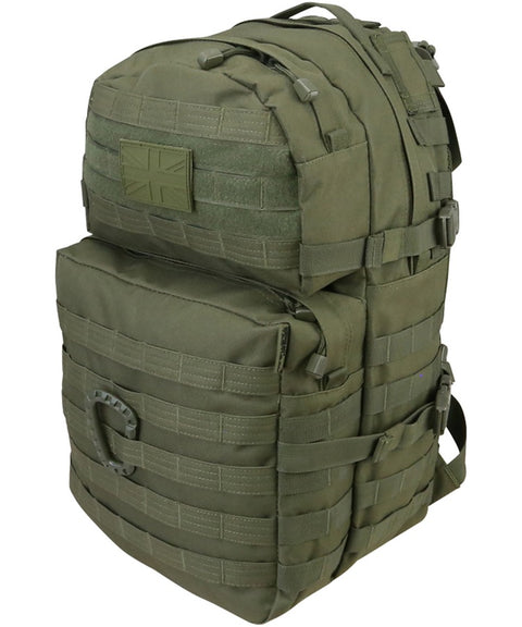 Medium Assault Pack 40ltr BLACK Bag Kombat UK - The Back Alley Army Store